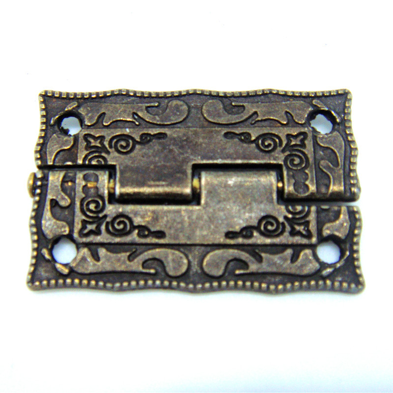 50pcs 36 * 23MMalloy hinge antique wooden stamp hinge Box Hinge small box hardware antique door furniture(China (Mainland))