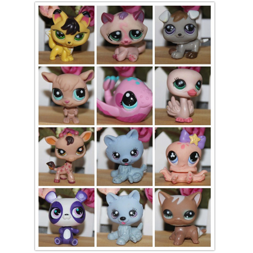 10pcs Littlest Pet Shop toy figures Hasbro pet toy(China (Mainland))