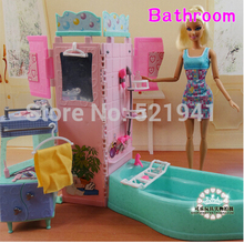 Free Shipping,New arrival Summer swimming toys DIY doll bathroom tub Doll Accessories doll Furniture For Barbie Doll