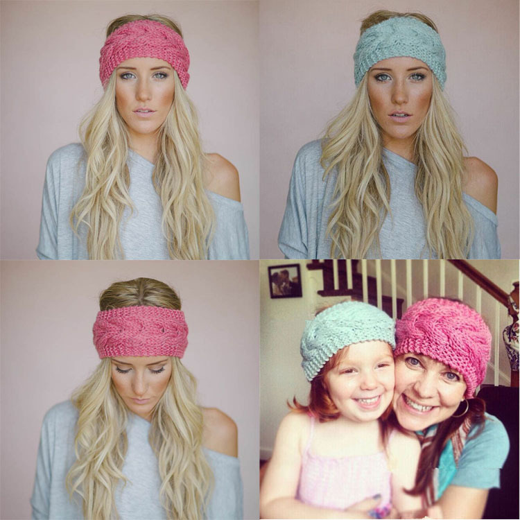 2015 New Hot Sale Korean Style Knitted Bandanas Woolen Yearned Hand made Headband Comfortable Head Accessories for Women Girl(China (Mainland))