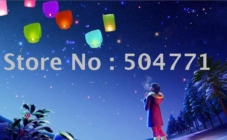wholesale 50 pieces NEW FIRE SKY CHINESE LANTERNS BIRTHDAY WEDDING PARTY(China (Mainland))