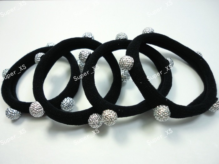 300pcs  wholesale lot fashion ball black fabric Stretch Headwear Ecoolike professional jewelry Free shipping RL551<br><br>Aliexpress