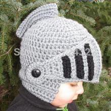 2015 new Children Handmade knitting Funny Beard Octopus roman knight Hat Child cap Crochet  Beanies party Mask Ski Free Shipping(China (Mainland))