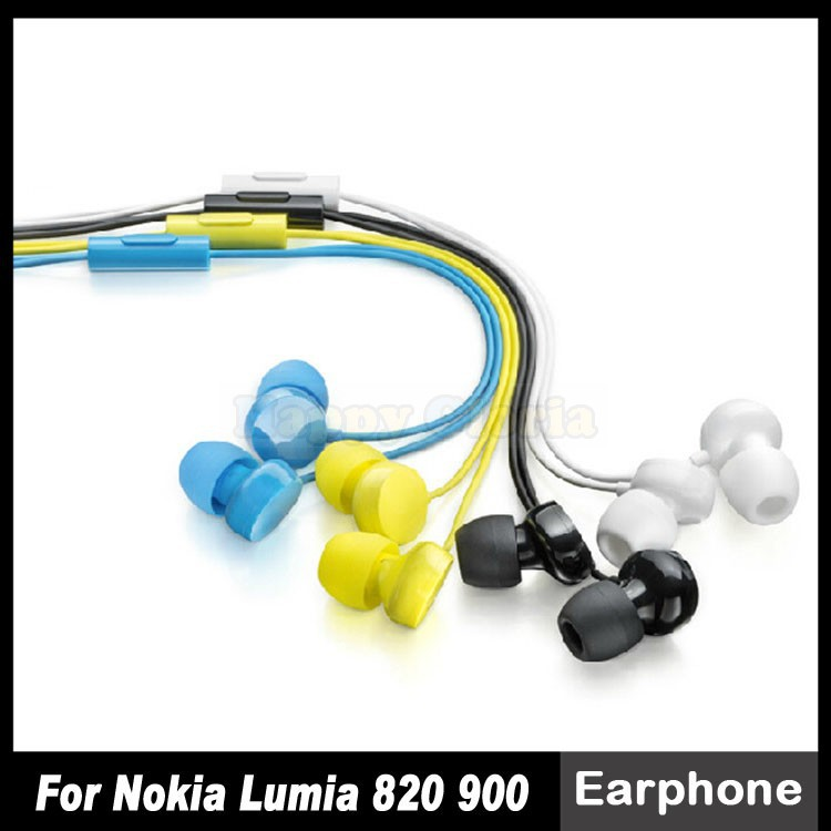 High Quality WH-208 3.5mm With Mic Earphones For Nokia Lumia 600 620 700 720 800 820 900 920 Headphones Earpods Free Shipping