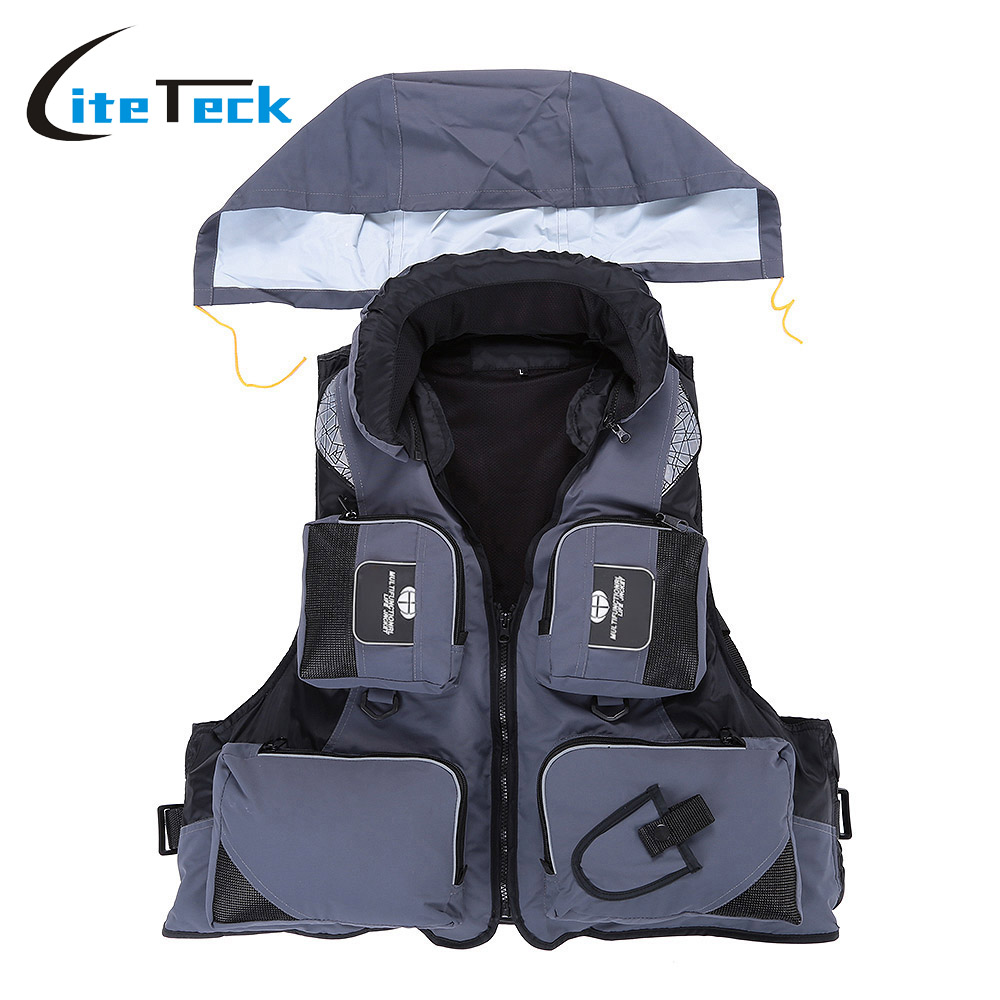 Professional Universal Survival Vest for Fishing Swimming Boating Drifting Outdoor Polyester Adult Life Jacket Survival Suit(China (Mainland))