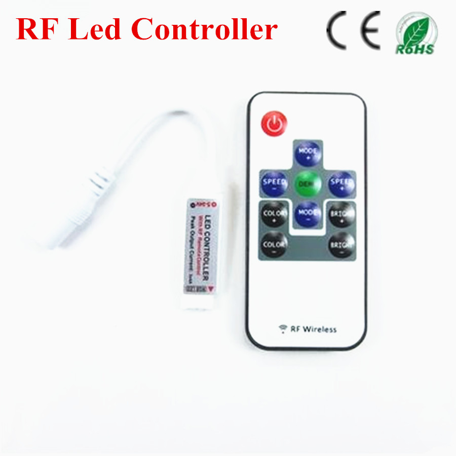 1Pc RF RGB Controller Mini RF Wireless LED Remote Controller for RGB 5050/3528 LED Lights Strips(China (Mainland))