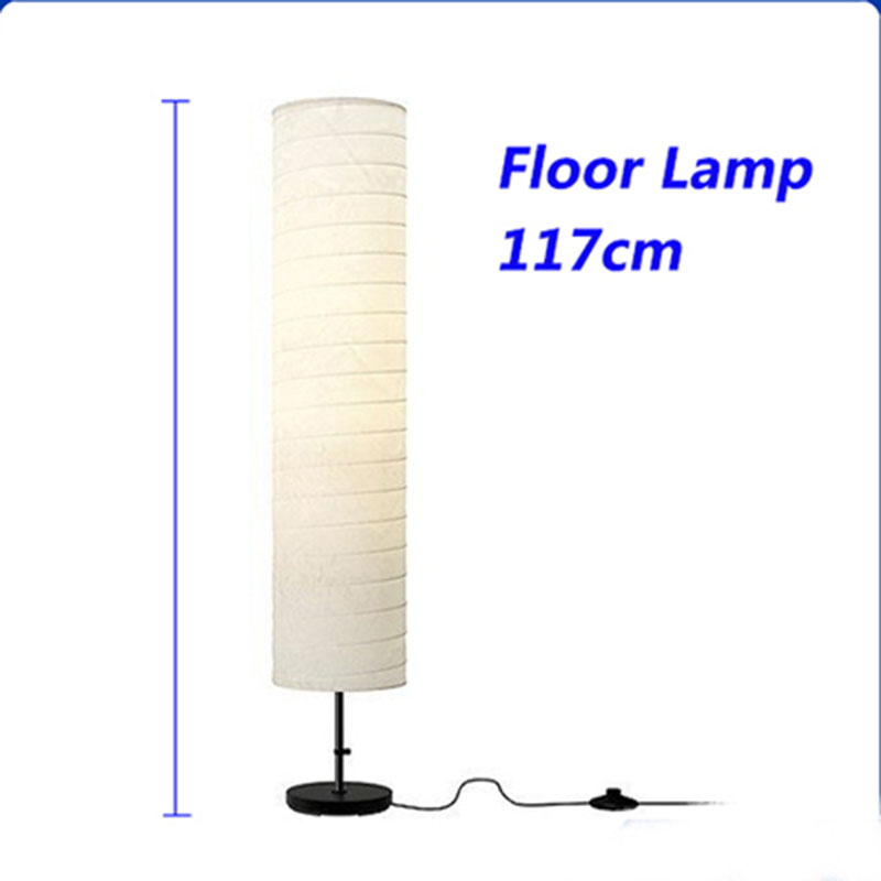 Free Shipping Holmo Contracted Floor Lamp Reading Lamp Paper Lampshade For Living Room Bedroom Sitting Room(China (Mainland))
