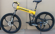 26 inch aluminium folding bike frame mountain bicycle 21 speed disc brakes tall man MTB bike 4 color choose(China (Mainland))