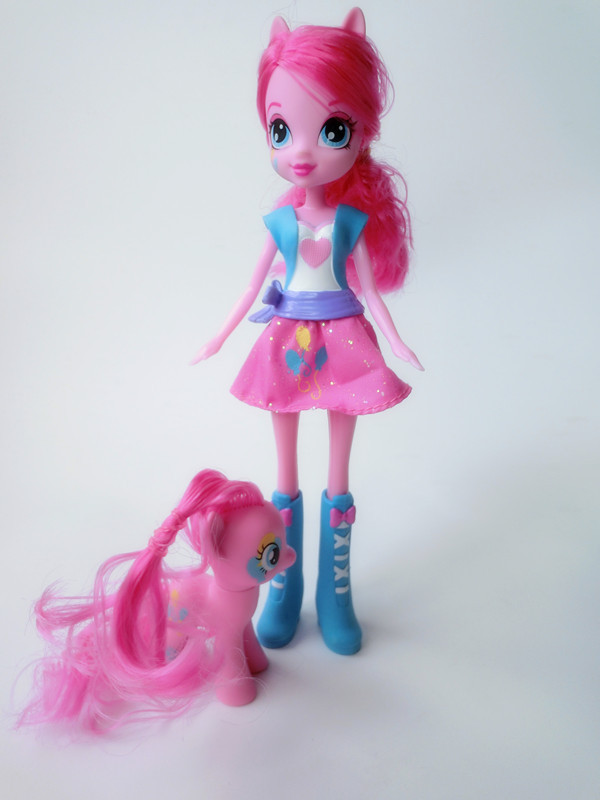 """Original Equestria Girls 9"""" Action Figures Pinkie Pie Doll+ 3.2"""" Ponies New Loose(China (Mainland))"""