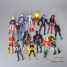 DC Comics Superman Green Lantern The Flash The Atom Black Canary PVC Action Figures Collection Model Toys 15pcs/set HRFG170