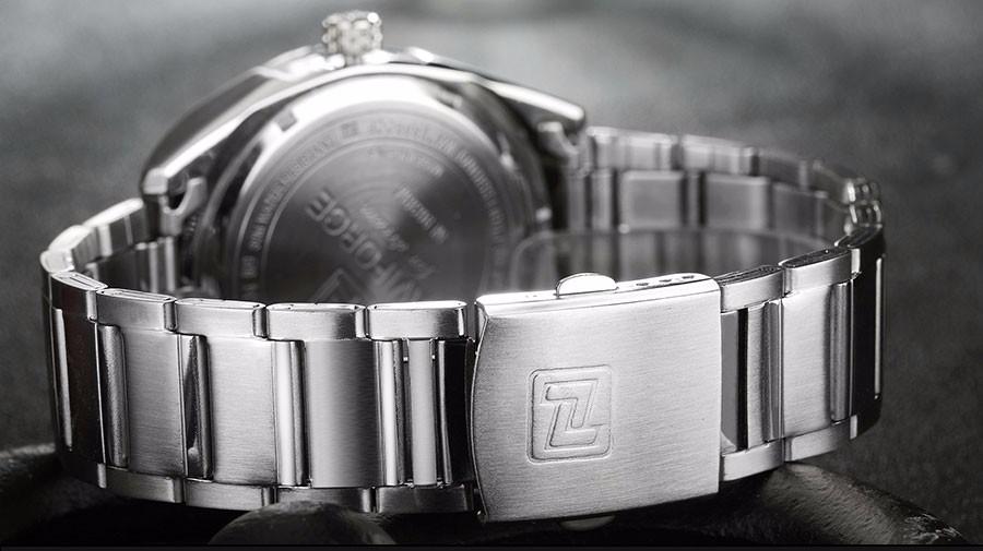 NAVIFORCE Марка Мужчины Часы Роскошные спортивные Кварцевые 30 М водонепроницаемые часы мужская нержавеющей стали ремешок авто дата наручные часы relojes