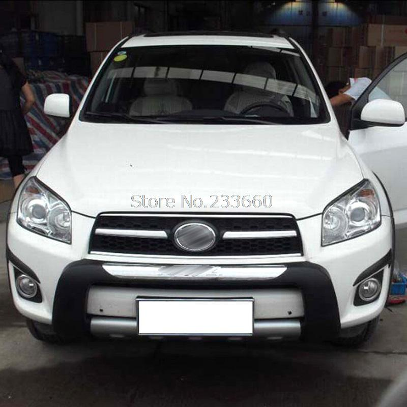 2012 Toyota RAV4 High Quality Chrome ABS  Front+Rear Bumper Cover Trim<br><br>Aliexpress