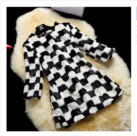 New Woman Natural Mink Fur Coat Ladies Real Fur Overcoat Womens Genuine Fur Clothes Black And White Marten Jacket CoatsОдежда и ак�е��уары<br><br><br>Aliexpress