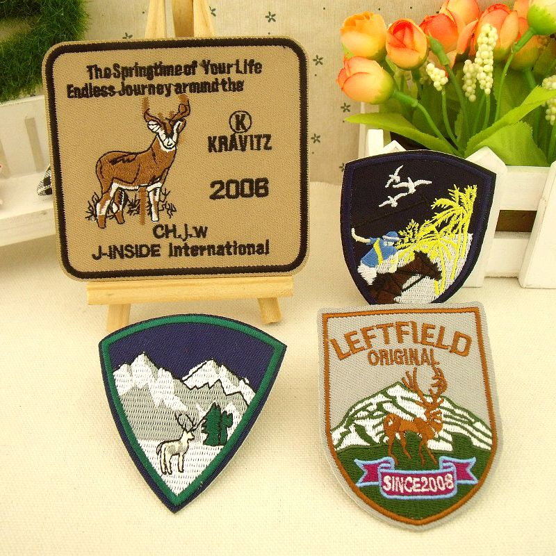 Men and women fashion cloth armband badge stickers affixed to high-end custom embroidery patch Nordic style series(China (Mainland))