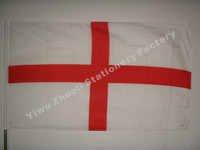 England Flag 150X90cm (3x5FT) 115g 100D Polyester Double Stitched High Quality Free Shipping Red Cross London(China (Mainland))