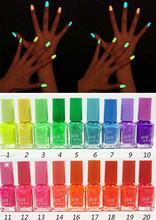 8pcs Hot Sale Luminous Nail Polish nail art, Fluorescent nail enamel,20 candy colors,,Free Shipping(China (Mainland))