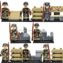 Wholesale Military World War II Minifigures Assault Force Specia Force 80pcs/lot Building Blocks Set Models Figures Toys
