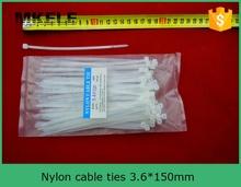 Бесплатная доставка ce, Ul, Rohs нейлоновый трос галстуки MKCT 3.6 * 150 мм 100 шт. / сумка