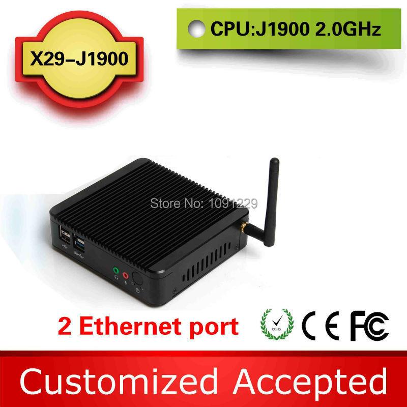 2015 New j1900 dual lan mini pc 2 lan port celeron j1900 dual lan x29 j1900 support win7 / linux / win8(China (Mainland))