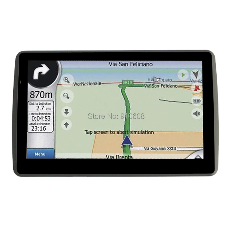"""7"""" Touch Screen GPS with 256MB RAM for Car Navigation with Free Trial Map of European Americas and South East Asia Africa etc(China (Mainland))"""