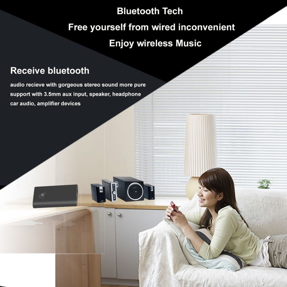2017 NEW B9 2-In-1 Wireless Bluetooth Speaker Audio Music Streaming Switchable Transmitter Receiver for Speakers TV DVD Car