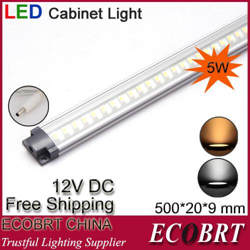 2015 smd3528 12v led linear cabinet light tubes 50cm long as closet lighting lamps warm white/cool white 6pcs/lot free shipping(China (Mainland))