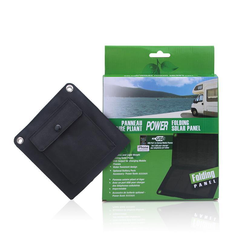 F14659 5 5v 7w Folding Foldable Portable Bag Solar Panel
