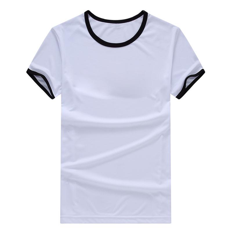 Spring Clothing Mens Blank T Shirts Ringer Sportswear Tops Tees Short Sleeve O Necks Casual(China (Mainland))