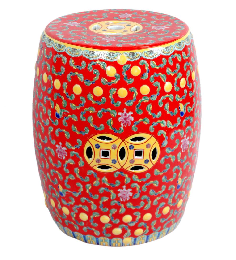 Дизайнерские керамические китайские табуреты купить