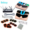 Bike Repair Tool Box 7 in 1 Mini Folding Tool Bicycle Tire Repair Kits with Pouch