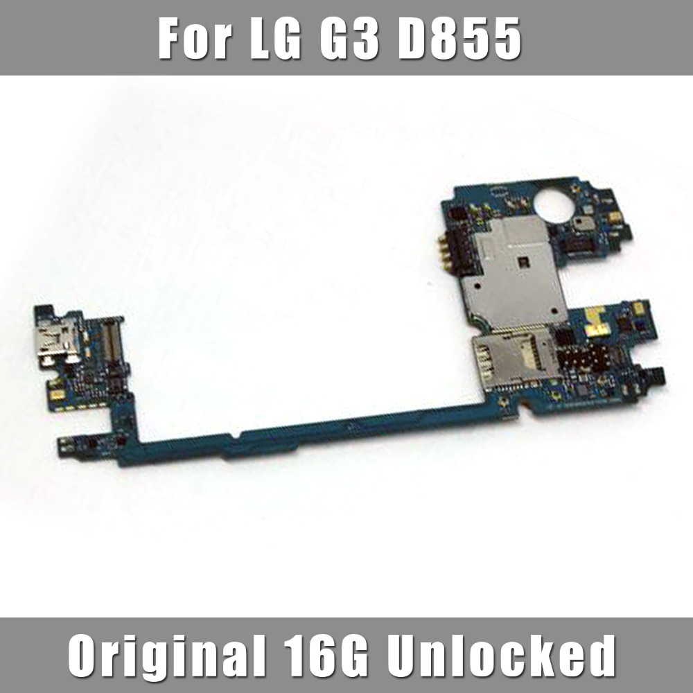 Newest Original Motherboard For LG G3 D855 16GB Unlocked Mainboard Cell Phone Replacement Parts Free shipping(China (Mainland))