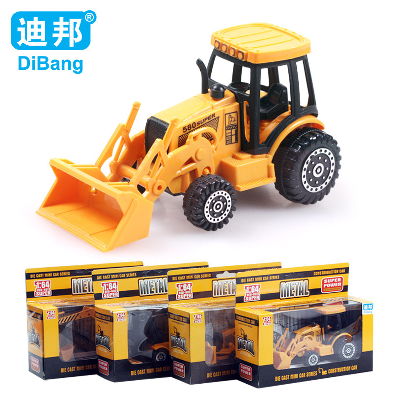 Brand child toy car 1:64 Plastic alloy engineering truck car Model toy 4pcs/set Christmas gift Boxed Free shipping(China (Mainland))