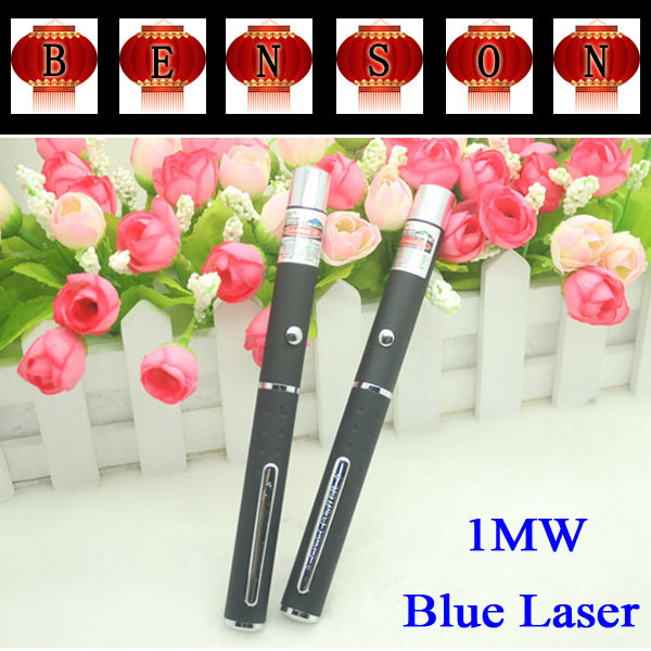 Powerful 1MW Blue Beam Light LED Laser Pointer Pen 405NM Blue Laser Pen 100pcs/lot(China (Mainland))
