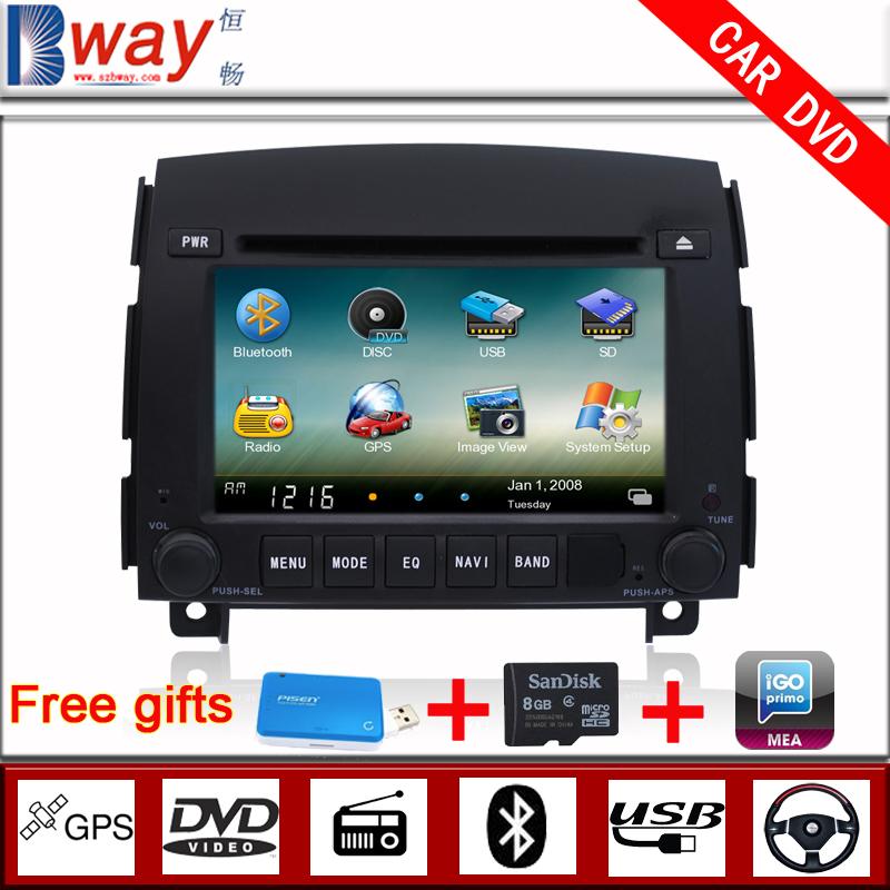 Bway Brand! 6.2 inch car dvd gps for HYUNDAI SONATA/NF (2006-2008) car dvd with GPS,Radio,Bluetooth,free 8GB Map card(China (Mainland))