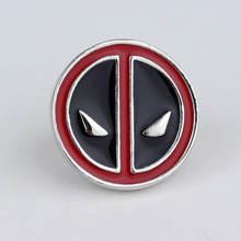 Kartun Anime Deadpool Bros Deadpool Masker Wajah Lencana Bros Merah Hitam Enamel Pin Kerah Pin(China)