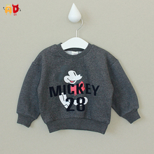 AD Cute Mic Mouse Baby Girls Boys Sweatshirts Fleece Thermal Kids Tops All Children's Clothes and Accessories 100% Cotton Jacket(China (Mainland))
