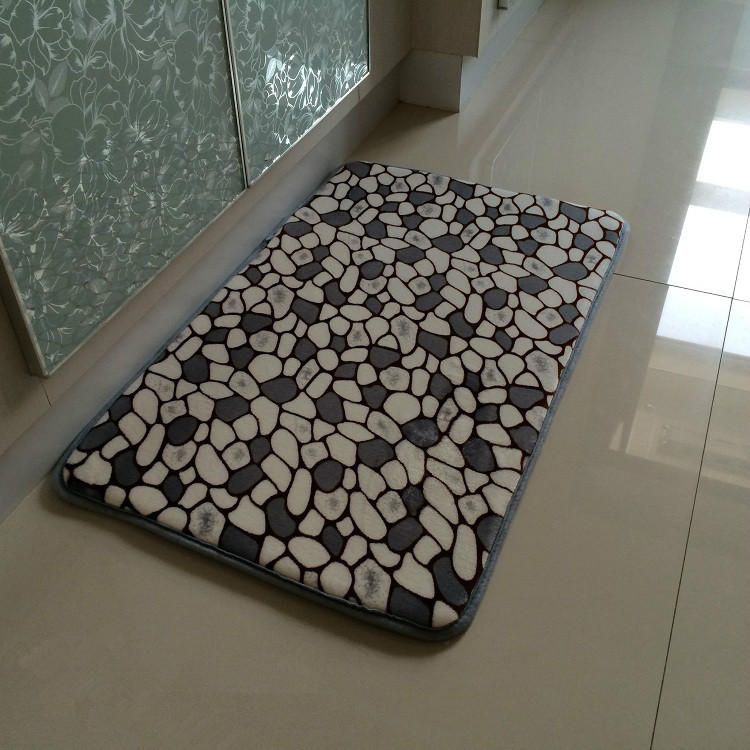 40x60cm gray stone slow rebound memory foam bath mats doormat bedroom rugs thicker skid(China (Mainland))