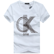 S 5XL mens t shirts fashion 2015 casual short sleeve animal letter printed cotton men tshirt