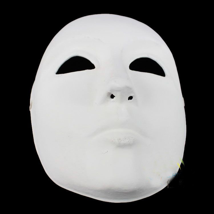 Plain White Masquerade Masks Decorations Paper Mache Full Face Mask Net weight 40g 1 mix Free