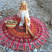 Indian Mandala Round Tapestry Wall Hanging Beach Throw Towel Yoga Mat Boho Decor  Carpet(China (Mainland))