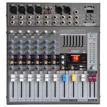 Freeboss ME82 Ultra low noise 4 Mono + 2 stereo 8 channels 16 DSP USB professional dj audio mixer console(China (Mainland))