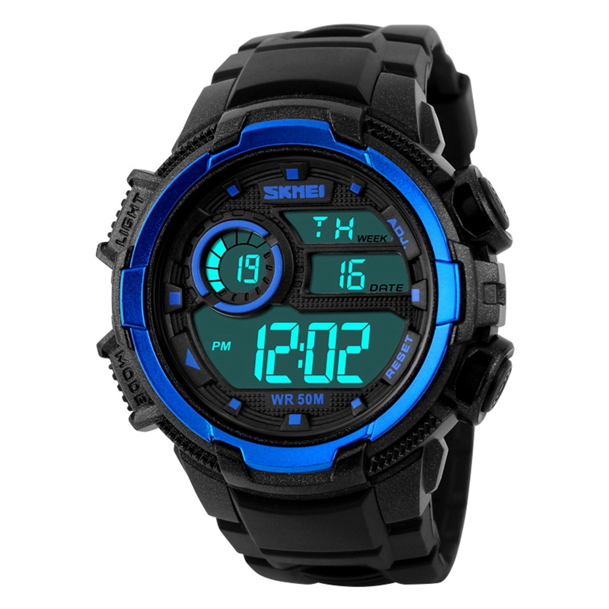 2016 New SKMEI popular Brand Men Military Sports fashion Watches Digital LED Wristwatches black rubber strap relogio masculino(China (Mainland))
