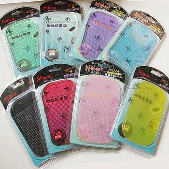2013 New 200pc/lot Power Silica Gel Magic Sticky Spider Anti Slip Car Pad Non-Slip Mat For Mobile Phone Pad PDA Non Slip Mat