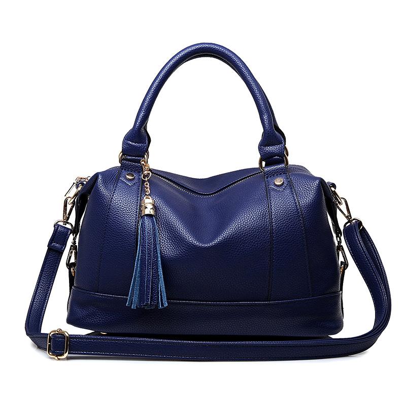 Women Famous Brand Designer PU Leather Barrel Handbag Lady Pillow Shoulder Bag Female Crossbody Bags Sac Femme Bowling YQ135043