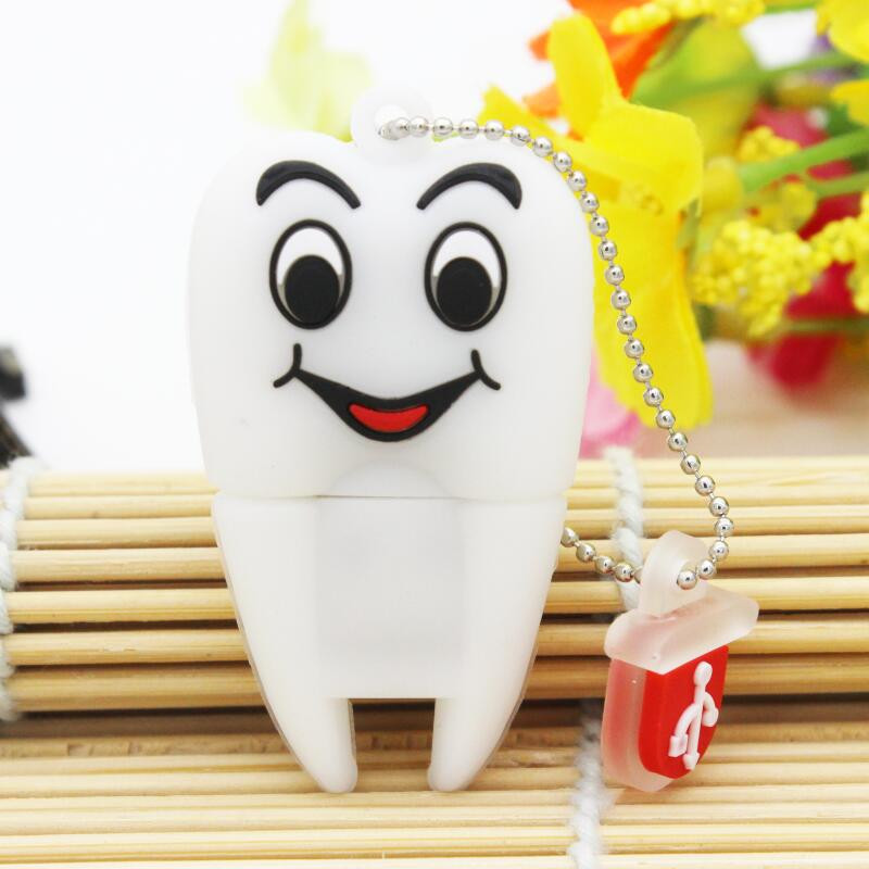 Cartoon Pen Drive Gift Teeth Cute Model 8GB/16GB/32GB/64GB Usb Flash Drive, Tooth Flash Memory Stick Pendrive Dentist U Disk(China (Mainland))