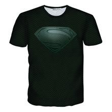 Man of Steel Superman Black logo Armour 3D Print T-shirt Cotton Unisex Tee Shirts Short Sleeve Casual Homme Loose Summer DC Tops