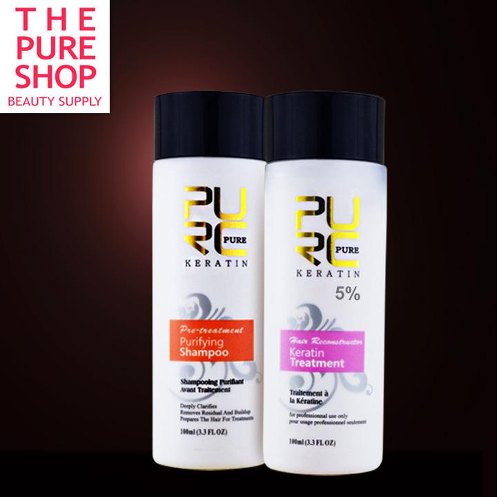 Гаджет  PURE Brazilian keratin hair straightening 100ml x 2 hair care products for Repair damaged hair and straighten hair care keratin None Красота и здоровье