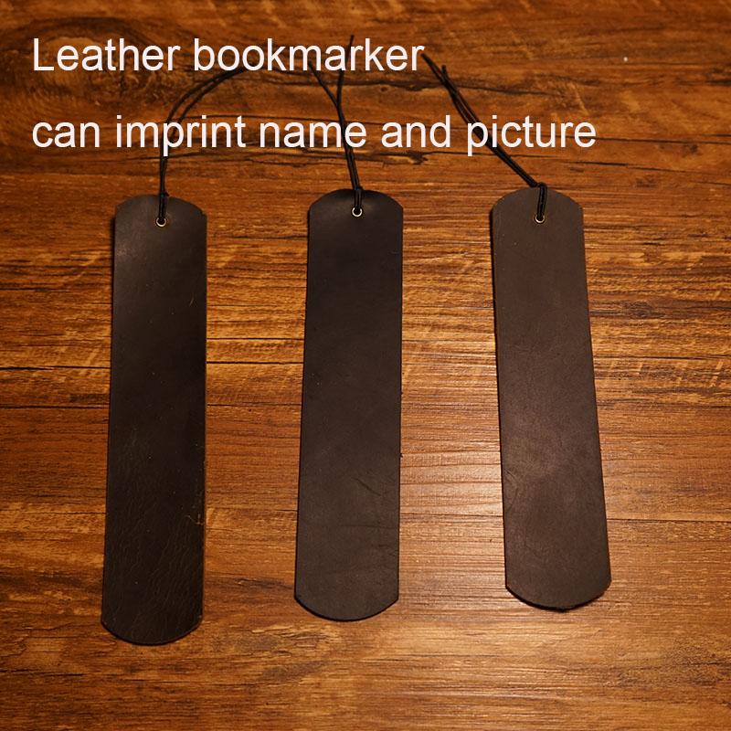 Handmade big bookmark genuine leather journal vintage bookmark travels notebook brown black color school supplies bookmarker(China (Mainland))