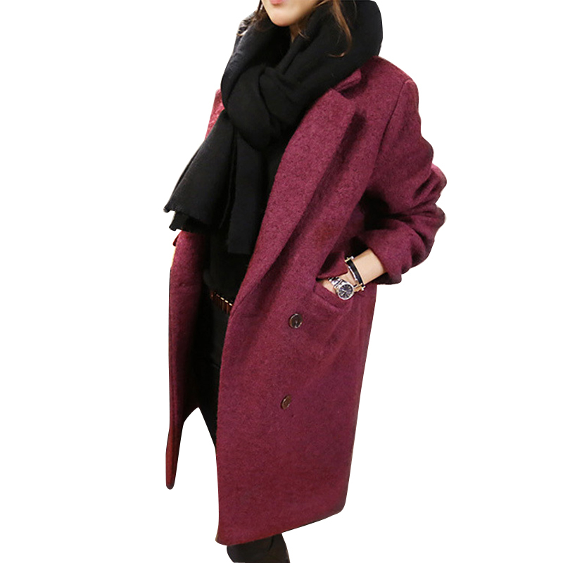 2016 Gabardina Mujer  Women Winter Caost Solid Casual Tempermaent Ladies Long Trench Coat Casaco Feminino Cardigan CT64Одежда и ак�е��уары<br><br><br>Aliexpress