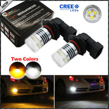 Buy 2pcs Color Switchable Xenon White/Amber Yellow CRE'E High Power 9005 HB3 H10 LED Bulbs Fog Lamps Driving Light Replacement for $19.57 in AliExpress store